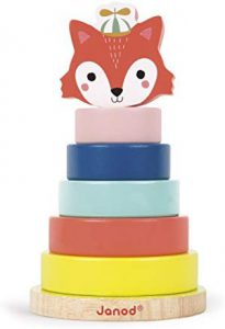 Janod- Jeu Empilable Baby Forest-Renard, J08014