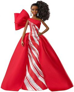 , Barbie- Signature Poupée de Collection Tenue de Noël, Robe Rouge, Édition 2019, Jouet Collector, FXF02, Multicolore
