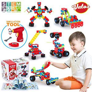 , Vatos Jouets de Construction STEM Kit de Jouets d'apprentissage Ensemble de Blocs de Construction Originaux d'ingénierie Jouet pour Les Enfants de 6 Ans Garçons et Filles 552 PCS